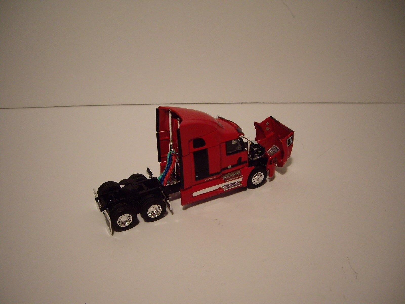 DCP 1/64 RED AND BLACK WESTERN STAR 5700XE W/T 68'' SLEEPER AND DRY VAN TRAILER 8