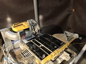 Dewalt tile saw wet saw 10""