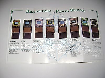 Kramergames Poker Riverboat Poker L'il Kramer Original sales flyer brochure