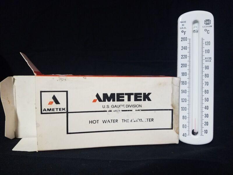 Ametek T572 Vintage NOS US Gauge Hot Water Thermometer  Steam Punk Old Retro