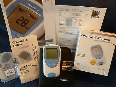 NEW (* In BOX *) Roche PT/INR CoaguChek XS Meter Monitor Test Kit, INR Meter KIT