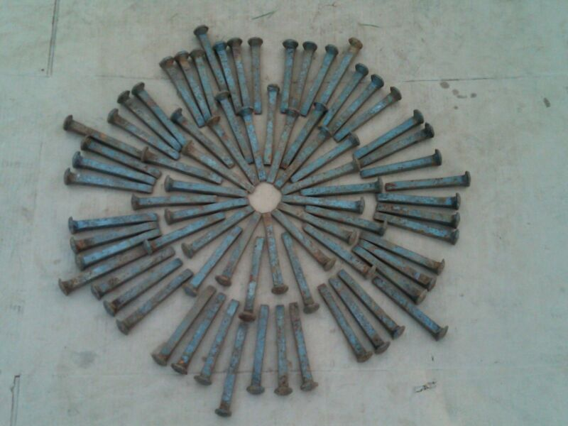 "75 Vintage Railroad Spikes Antique Blacksmith Train Track RR 6.5"" LOT OF 75"