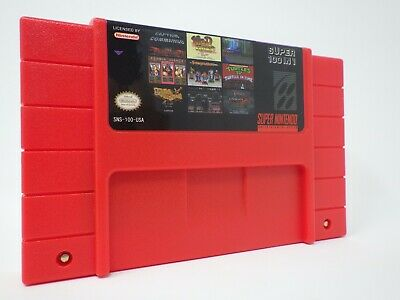 100 in 1 SNES Super Nintendo Multi Cart Game Contra Final Fight Zombies Mega Man