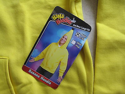 NEW Haha Hoodie Cool Unique Yellow BANANA Food Fruit Costume LARGe - Extra LARGE