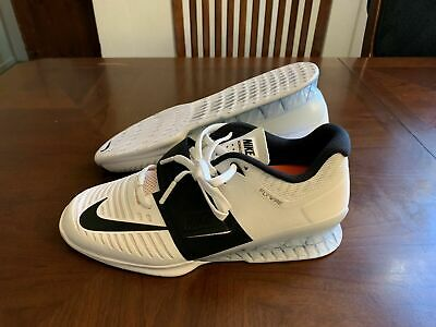 NEW Nike Romaleos 3 Weightlifting White Black 852933 -101 Mens Shoes Size 11  comprar usado  Enviando para Brazil