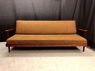 Vintage Sofa Day Bed Guy Rogers Retro Teak Mcm