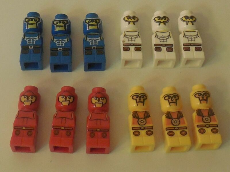Lego 4x Minotaur Gladiator Red Micro Figure NEW micofig NEW Microfigures