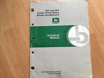 John Deere 945 955 Mower Conditioner Technical Service Repair Manual Tm1675 Oem