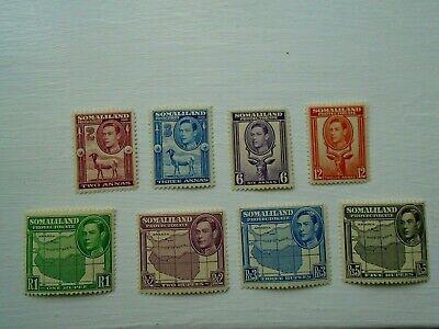 1942 British Somaliland MNH Stamp Collection KGVI inc R1, R2, R3 & R5