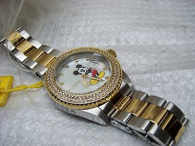 Invicta 24752 Disney Angel MOP Dial Two Tone Yellow Gold Steel Watch $695