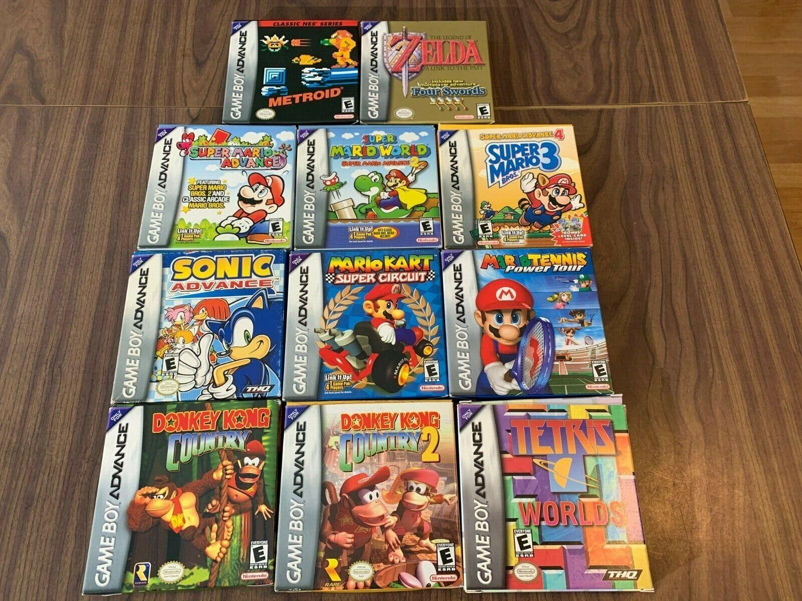 Super Mario Advance 1 2 4 Kart Donkey Kong Country Tennis GameBoy Advance, GBA  - $499.95