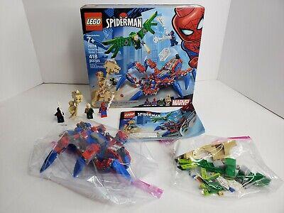 LEGO 76114 Spiderman's Spider Crawler 418 Pcs 100% Complete w/ Box