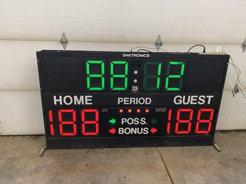 Vintage Daktronics BB-10125 Basketball Scoreboard, Works, Man Cave, Unit #2