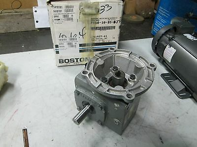 "Boston Gear Worm Gear Speed Reducer Cat#F71810B5G 7/8"" Keyed Shaft  (NIB)"
