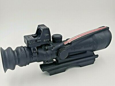 Trijicon ACOG 4x32 Rifle Scope w/ Trijicon RMO1 2PE1:19 & A.R.M.S Mount