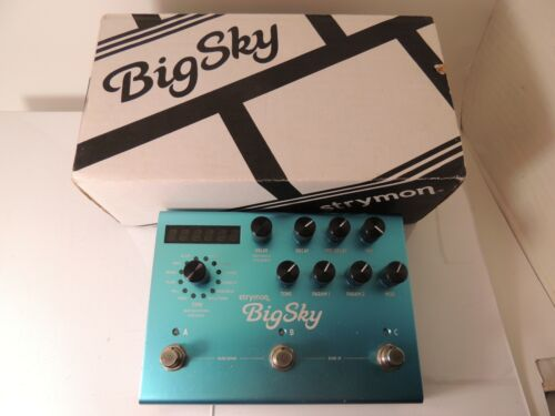 Strymon Big Sky Reverberator Reverb Effects Pedal w/Original Box & Power Supply