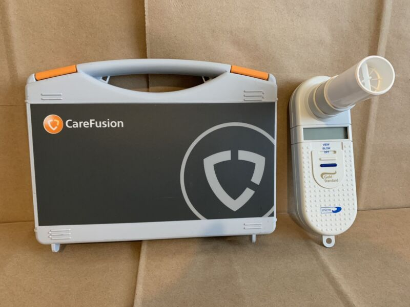 MICRO Spirometer Care Fusion Lung Function Analyzer Gold Standard With Case