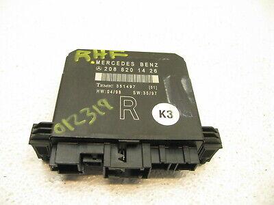 97-00 MERCEDES W208 CLK430 CLK320 DOOR CONTROL MODULE FRONT RIGHT 12319 Drivers Side Lock Box