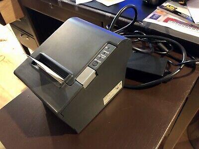 Epson Tm-t88iv M129h Thermal Pos Monochrome Receipt Printer Parallel W Power