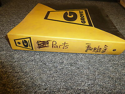 Grove Rt740 Rough Terrain Hydraulic Crane Parts Catalog Manual Book