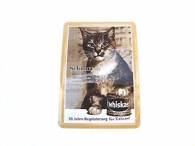 Whiskas Blechschild 3, Maße 14 x 10 cm, gültig auch als reguläre Postkarte, Neu