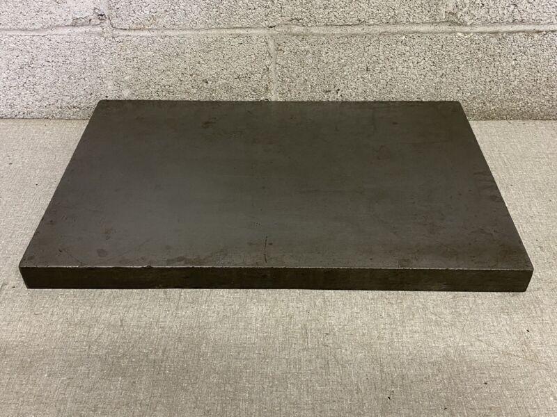 """Vintage Machine Shop Cast  Iron 18""""x 12"""" Surface Inspection Plate"""
