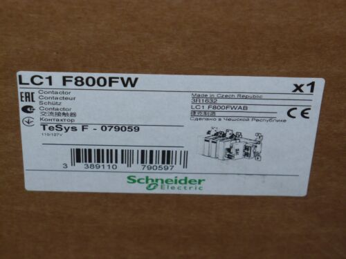 Schneider Electric LC1F800 FW TeSys Contactor, 3 Pole, 800 Amp, 120V Coil, New