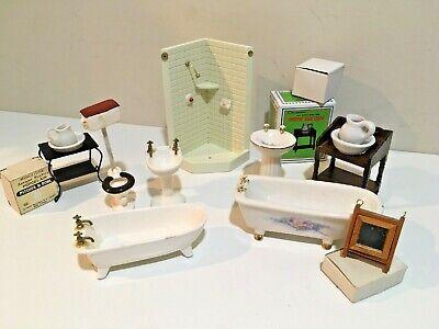 Dollhouse Miniature Vintage Bathroom Furniture Lot