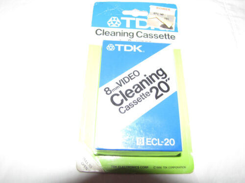 TDK Cleaning Cassettte for 8mm Video - ECL-20 - Brand New Sealed