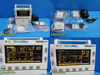 Welch Allyn 206el Monitor Spo2 Temp Nibp Inv-bp Ecg Printer W New Leads22440