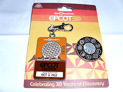 Disney * EPCOT * 30 YEARS OF DISCOVERY * Pin Trading Lanyard Medal & Pin Set