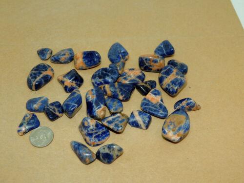 Sunset Sodalite Tumbled Stones 1/4 pound (16669)