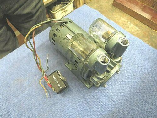 Pump, vaccuum pump, pressure pump, vain pump, GE motor and pump, 115 volts AC