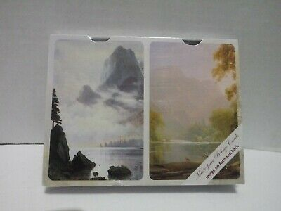 Masterpiece Bridge Playing Cards Double Deck. NEW. 2 landscape painting designs Landscaping Deck Designer