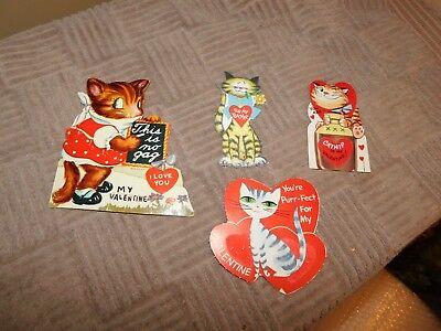 Cat Valentines Lot Vintage USA Unused](Cat Valentines)