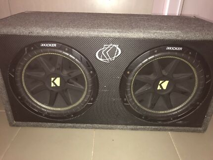 Kicker 12 inch subs and amps