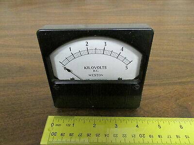 Weston Model 961 Panel Meter Vintage Bakelite Kilovolts 0-5