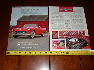 1956 FORD THUNDERBIRD T BIRD - ORIGINAL 2013 ARTICLE