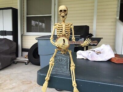 Animated Banjo Playing Skeleton Plays She'll Be Coming Down The Mountain .](Banjo Playing Skeleton)