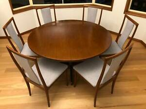 6 Parker high-back dining chairs, reupholstered, excellent condition