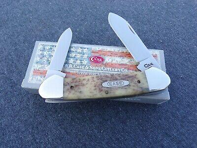 CASE XX * SFO 1995 BROWN APPALOOSA CANOE KNIFE KNIVES