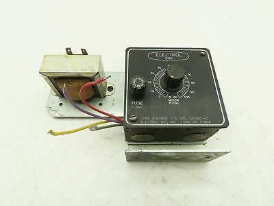 Electrol 500 Electric Motor Rpm Speed Controller Drive 115 Vac