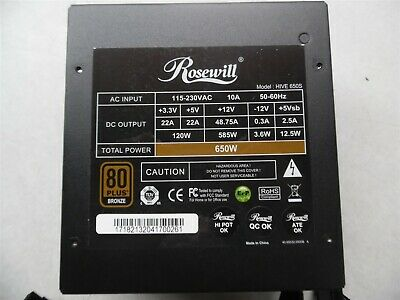 Rosewill HIVE-650S 650W Gaming Power Supply