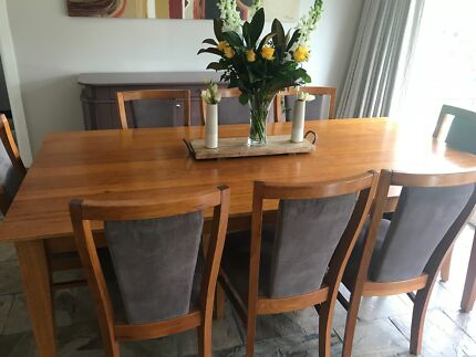 Dining Table 8 Chairs And Matching Buffet