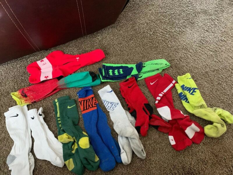 Nike Performance Elite Soccer Crew Sock Lot Of 8 Plus 3 Others