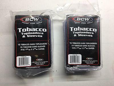 2 PACKS TOBACCO SIZE CARD HOLDERS, 10 SLEEVES & 10 TOPLOADERS EACH PACK, BCW