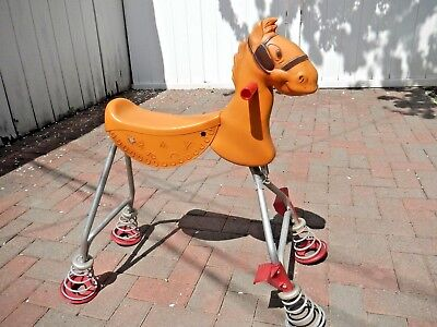 Vtg 1960s Moulded Products Pogo Pony Bouncing Spring Rocking Riding Horse Toy