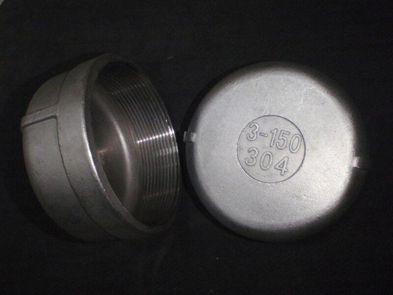 """STAINLESS STEEL END CAP 3"""" BSPP  PIPE EC-300-BSP"""