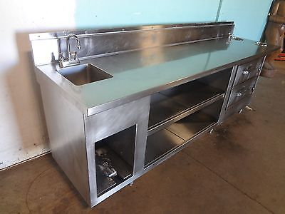 H.d. S.s. Servers Service Counter W 2 Drawer Warmers Hand Sink Dipping Well