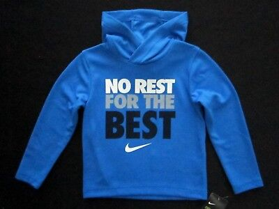 Nike Boys Long Sleeve Lt Photo Blue Polyester Pullover Hooded Dri-Fit MSRP: $28
